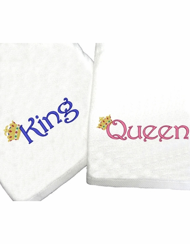 King and Queen Bath Towels - His and Hers Beach Towels
