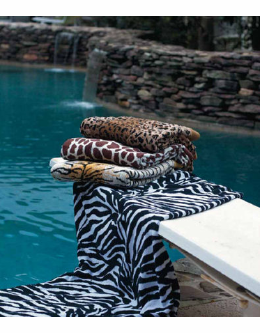 Personalized Tiger, Cheetah, Giraffe and Zebra Beach Towels