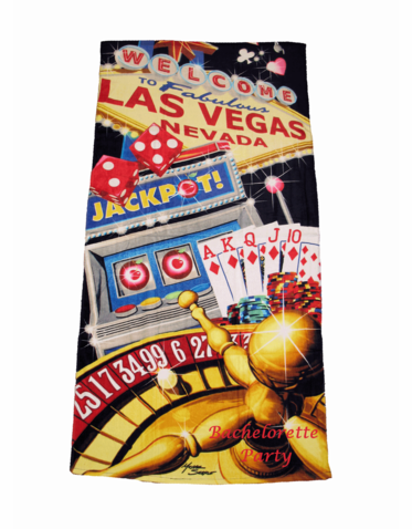 Personalized Las Vegas Beach Towel