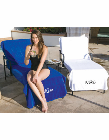 Personalized Lounge Chair Cover