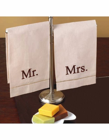 Embroidered Mr and Mrs Towel Set