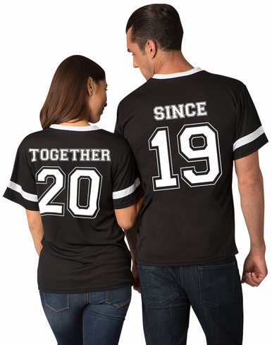 Matching Couples Jerseys - Together Since with Custom Date