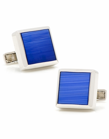 Sterling Silver And Vibrant Catseye Cufflinks  Four Striking Colors