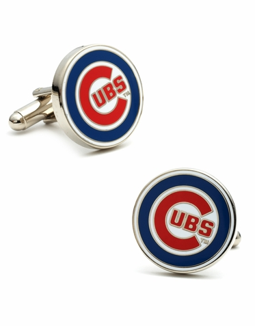 Officially Licensed Classic Chicago Cubs Logo Cufflinks