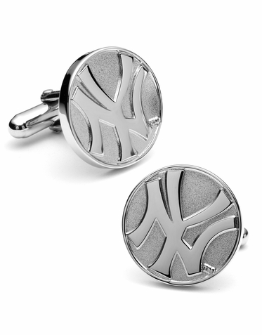 Official NY Yankees Silver Edition Cufflinks