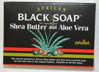 AFRICAN BLACK SOAP WITH SHEA BUTTER & ALOES