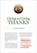 Giving and Living Thanks