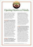 Opening Hearts and Hands