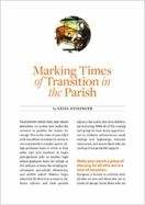 Marking Times of Transition in the Parish