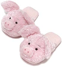 Kids Dezi AniMules Fuzzy Pink Pig Slippers -Toddler Size