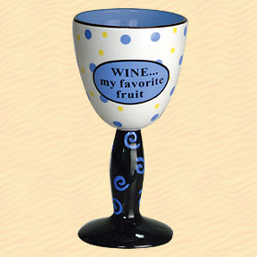 Wine...My Favorite Fruit Tumbleweed Wine Goblet