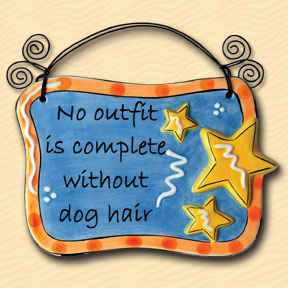 No Outfit is Complete Without Dog Hair Tumbleweed Sentiment Plaque
