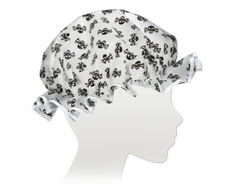 Ore Living Goods Black Skull Shower Cap