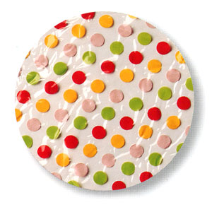 Ore Living Goods Red Polka Dot Shower Cap