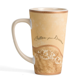 "Follow Your Dreams ""Comfort"" Latte Mug by Pavilion"