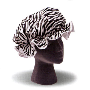 Ore Living Goods Zebra Shower Cap