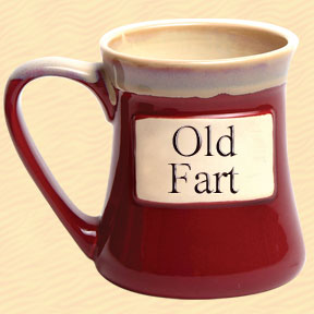 Old Fart Tumbleweed Classic Word Oversized Coffee Mug