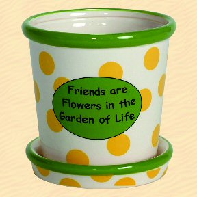 Friends are Flowers in the Garden of Life Tumbleweed Whimsical Planter
