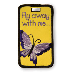 Finders Key Purse Fly Away Butterfly Not Just A Luggage Tag