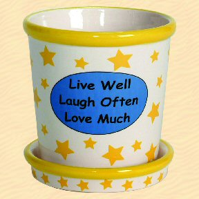 Live Well Laugh Often Love Much Tumbleweed Whimsical Planter