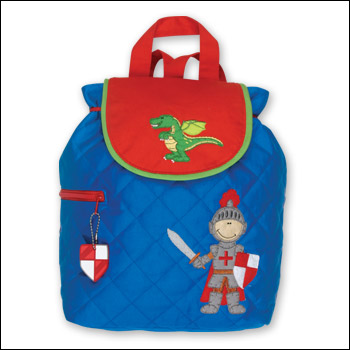 Stephen Joseph Knight & Dragon Blue Quilted Backpack-Discontinued