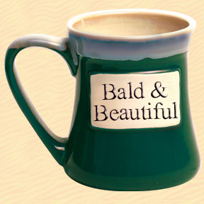 Bald & Beautiful Tumbleweed Classic Word Oversized Coffee Mug