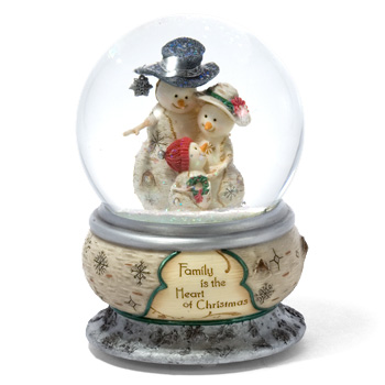 "The Birchhearts 5.75"" Family is the Heart of Christmas Musical WaterGlobe by Pavilion Gift"