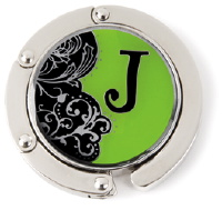"""J"" Monogram Hang Em' High Purse Hanger"