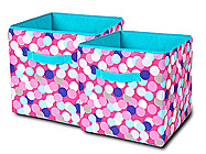 Confetti Dot  2 Pack Medium Storage Cubes