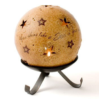 """5"""" Shining Star Pierced Round Comfort Candle"""