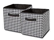 Houndstooth 2 Pack Medium Storage Cubes