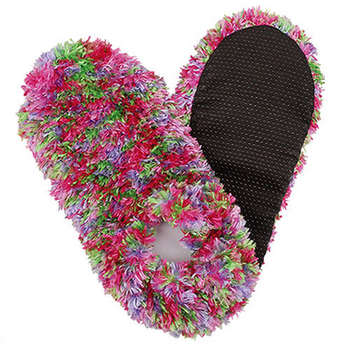 Fuzzy Footies Green | Purple | Light Pink | Pink Slippers
