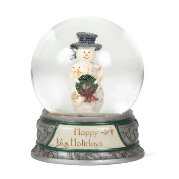 The Birchhearts 65 mm Water globe Snowman Holding Wreath by Pavilion Gift