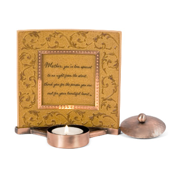 Comfort Candles Mother Small Plaque w/Tea Light