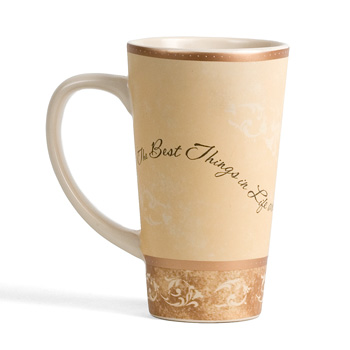 "The Best Things In Life ""Comfort"" Latte Mug by Pavilion"