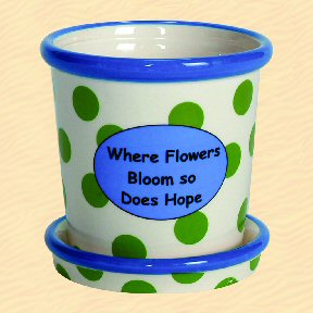 Where Flowers Bloom So Does Hope Tumbleweed Whimsical Planter