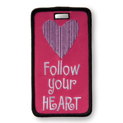 Finders Key Purse Follow Your Heart Not Just A Luggage Tag