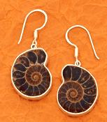 Charles Albert Sterling Ammonite Earrings