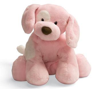 "Gund 10"" Pink Spunky Puppy Dog"