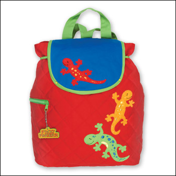 Stephen Joseph Red Gecko Lizard Quilted Backpack