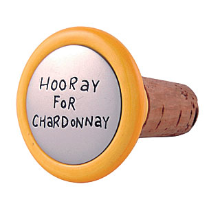 Our Name is Mud Hooray for Chardonnay Wine Stopper