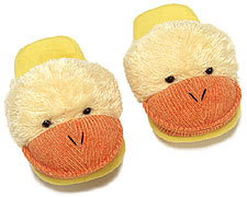 Adult Dezi AniMules Fuzzy Yellow Duck Slippers