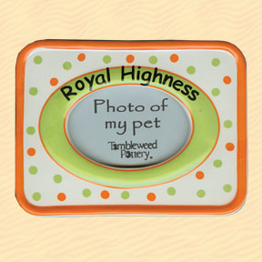 Tumbleweed Royal Highness Pet Photo Frame