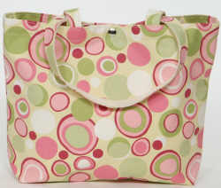 Custom Baby Flashback Pink and Green Large Tote Bag