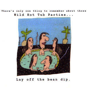 Wild Hot Tub Parties High Cotton Funny Bar Towels