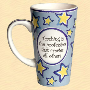 Tumbleweed Teaching is the Profession that Creates All Others Tall Coffee Mug
