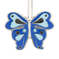 Blue Butterfly Finders Key Purse Key Finder
