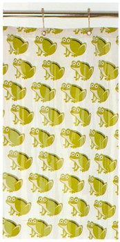 O.R.E. Frog Vinyl Shower Curtain