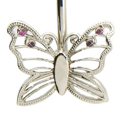 Silver Butterfly Finders Key Purse Key Finder