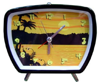 Tropical Sunset Vacation Clock